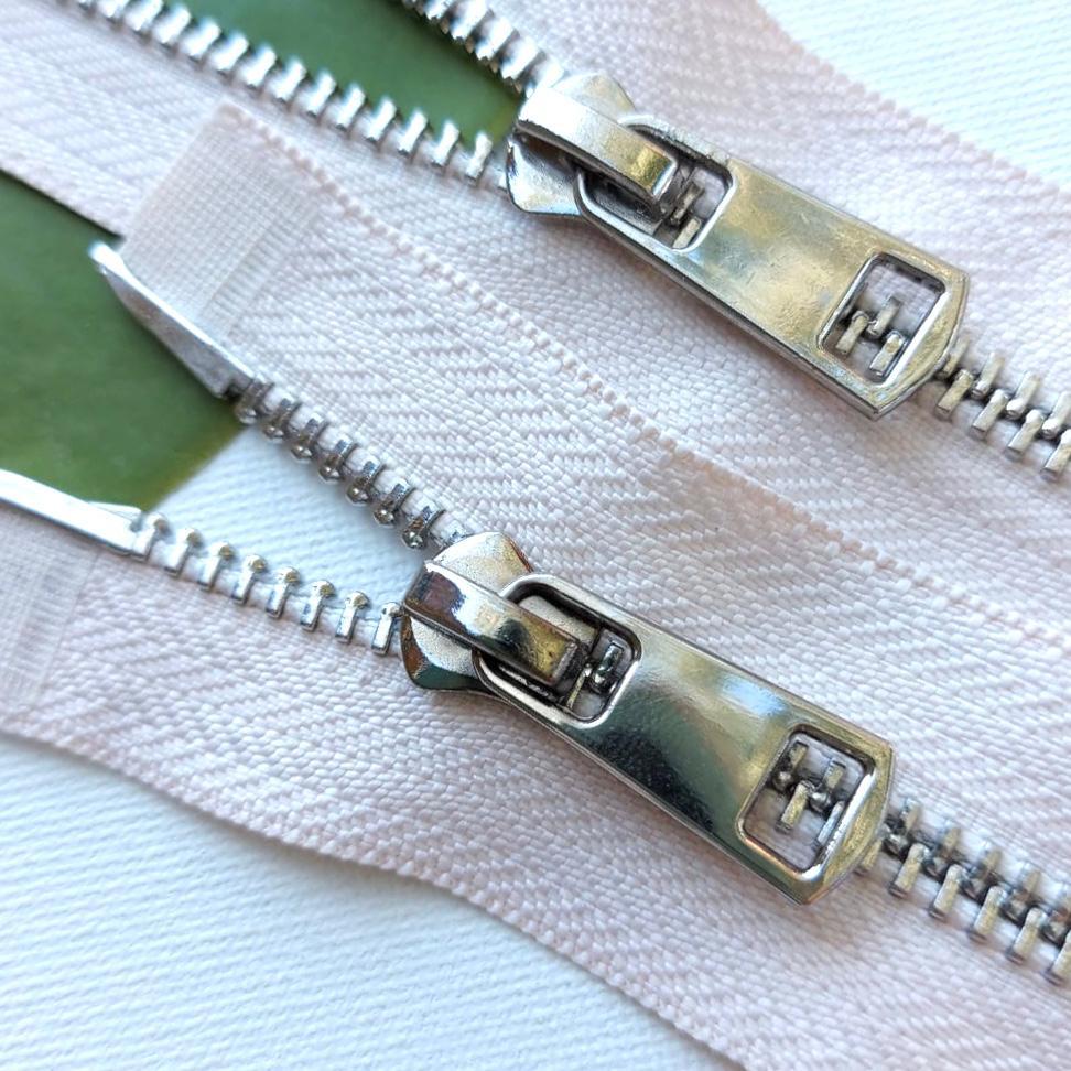 Молния металл №5ТТ никель два замка 85см D123 бежевый, 2002001722446