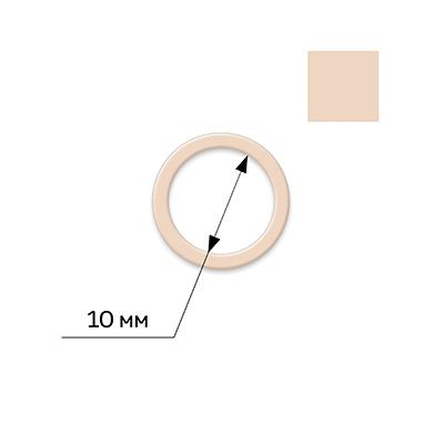 27675 Кольцо мет. цв. 126 бежевый F.1923.010-102, 10мм , уп.50 шт