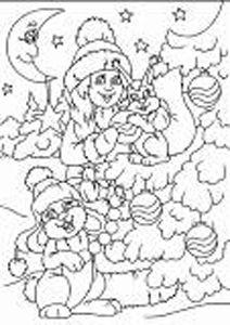 п0000163т Набор для рисования песком с трафаретом 'С Новым Годом' 21*30см
