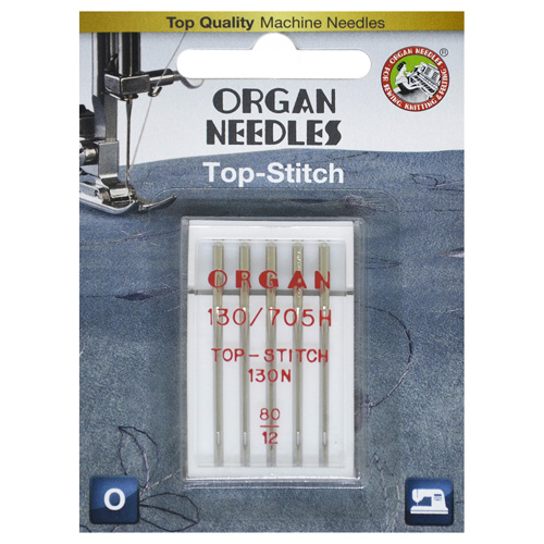 ORGAN иглы TOP STITCH 5/80 Blister