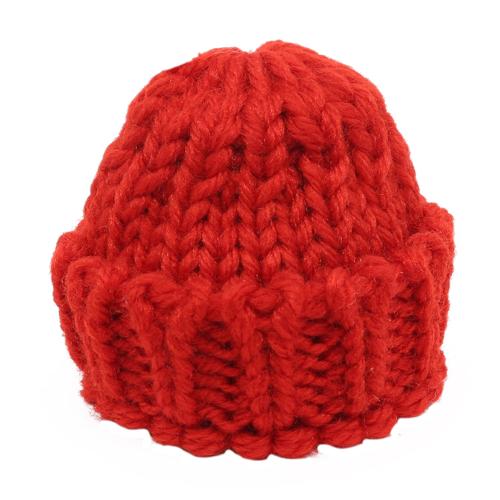 26668 Шапка для игрушек вязаная 8см, обхват гол.11-16см, 100% акрил, цв. красный