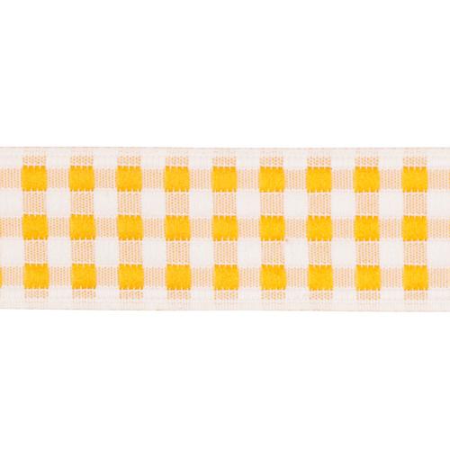 05-65104/20 Тесьма жаккардовая 20мм оранж 'клеточка'
