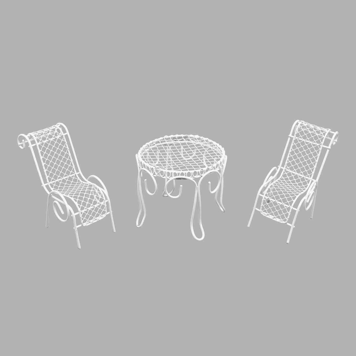 Мебель для куклы, 3 предмета (шезлонг 2шт, стол), Астра