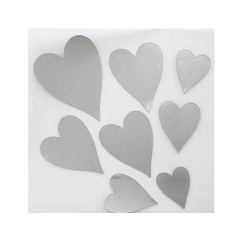Набор светоотражающих наклеек на одежду 'Сердце'