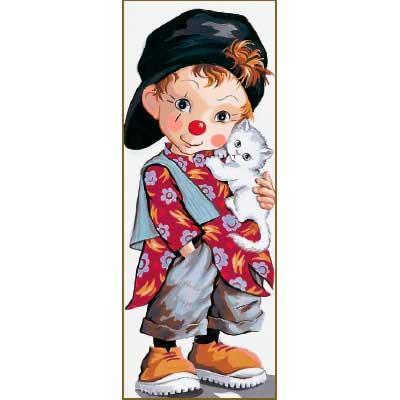 9880-0137-0091-1 Канва с рисунком Royal Paris 'Маленький клоун' 49х19 см