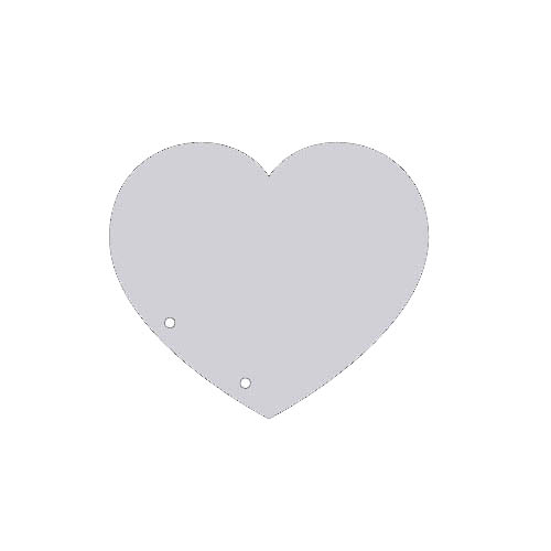 HY050104 Заготовка для альбома, сердце, 15х15 см, 2шт
