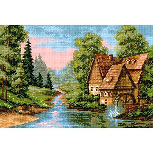 1097 Набор для вышивания Riolis 'Мельница', 38*26 см