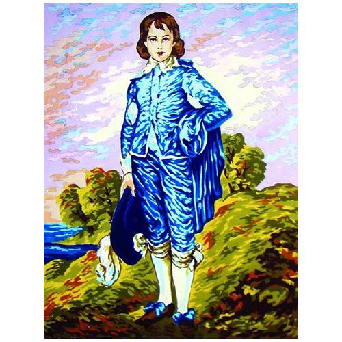 10454-CDA Канва с рисунком Collection D`Art 'Мальчик' 40*50 см