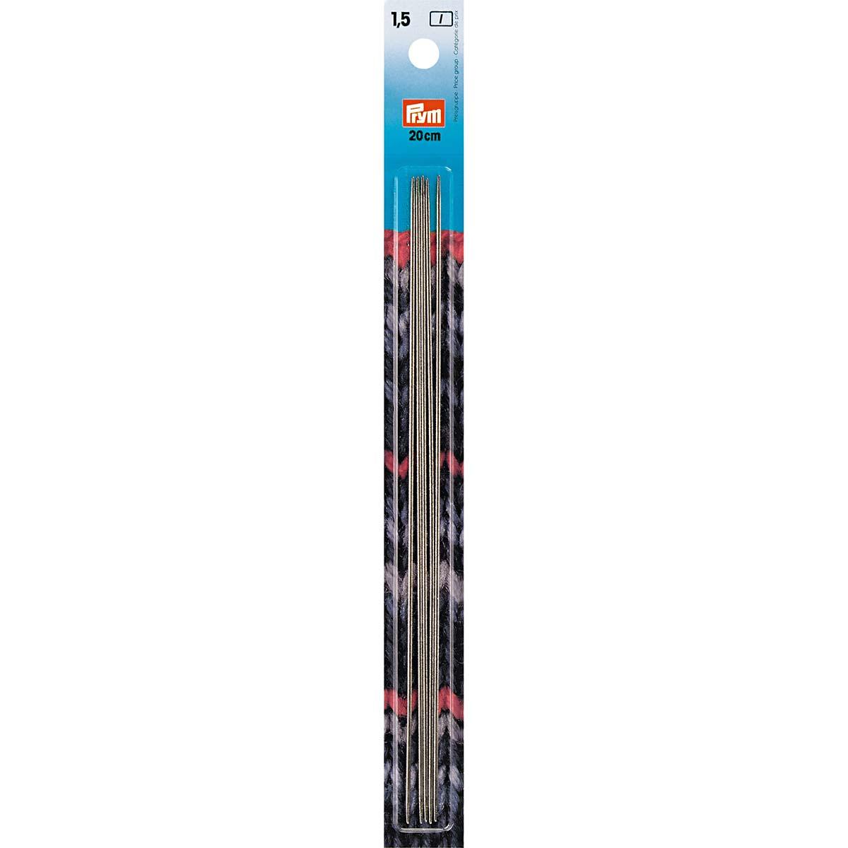 171233 Спицы носочные, сталь, 20 см*1,5 мм, Prym