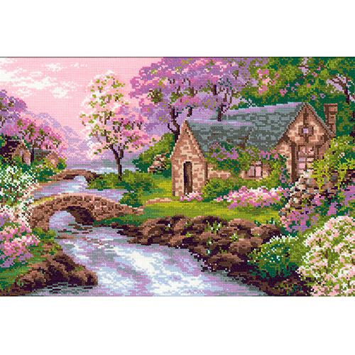 1098 Набор для вышивания Riolis 'Весенний пейзаж', 38*26 см