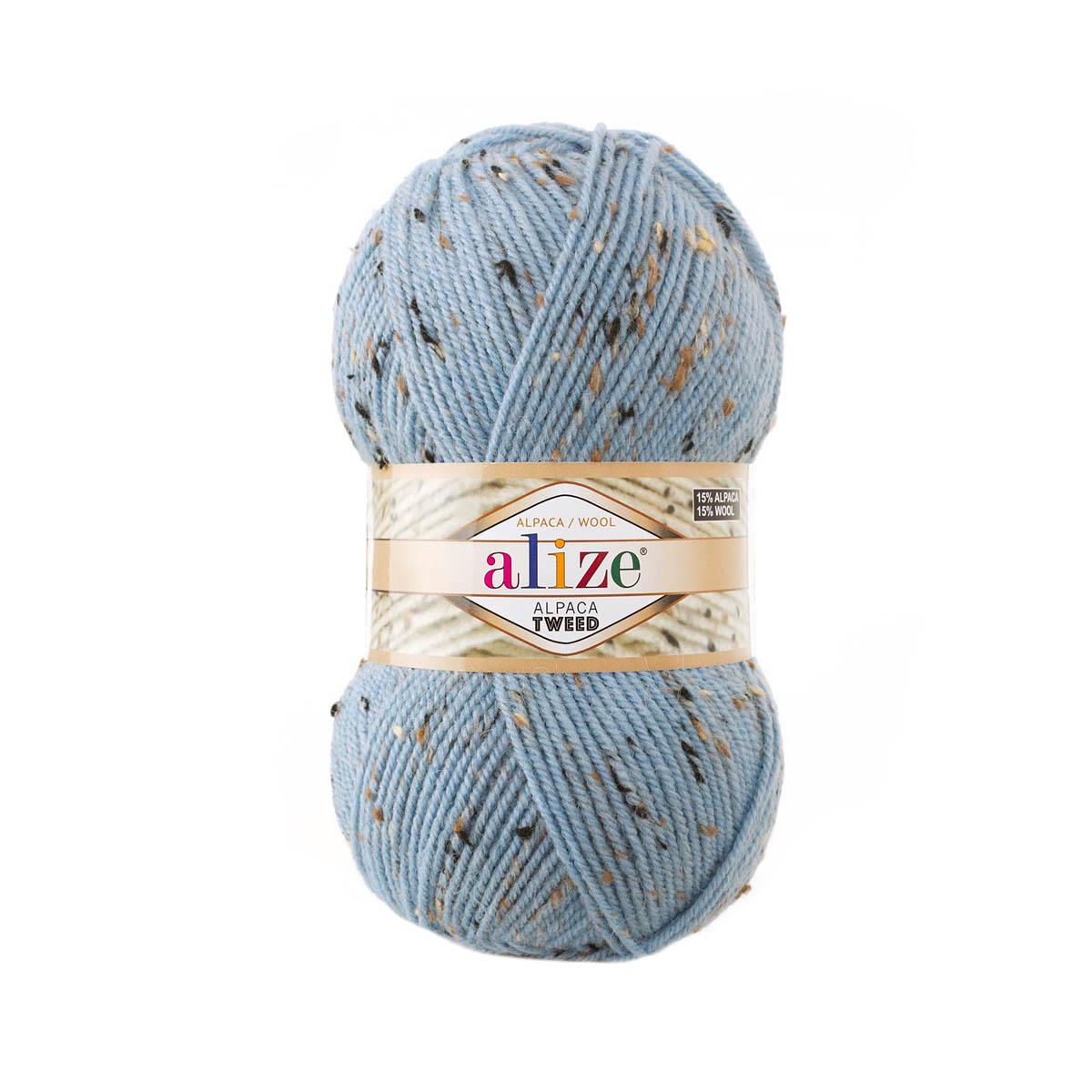 Пряжа Alize 'Alpaca Tweed' 100гр. 250м. (15% шерсть, 15% альпака, 5% вискоза, 65% акрил)