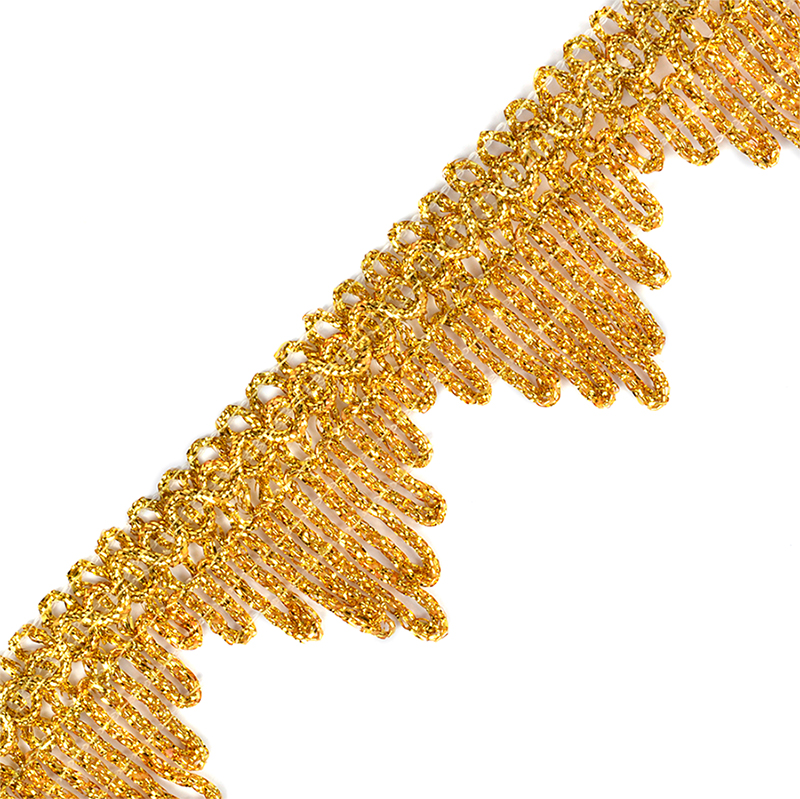 Тесьма TBY металлизированная арт.13-5061 шир.40 мм цв.золото уп.22,85м, TBYОТД135061ЗОЛ25