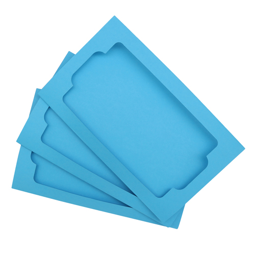 Набор тройных открыток с прямоугольным фигурным окошком 3шт арт. card3 (F)