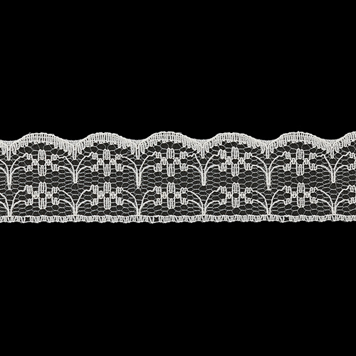 05-38004/22 Кружево нейлон 22мм*25м крем