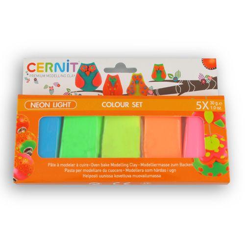 CE0930005K02 Набор пластики 'Cernit NEON', упак./5 шт*30 гр., Cernit