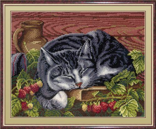 НВ-268 Набор для вышивания 'МП Студия' 'Спящий котик', 22х28 см