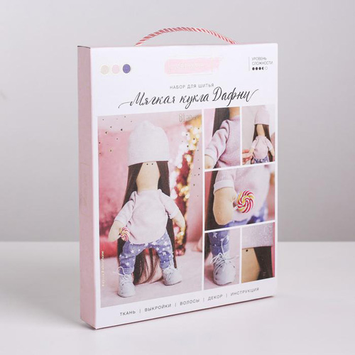 3548665 Интерьерная кукла «Дафни», набор для шитья, 18 *22,5 *2,5 см