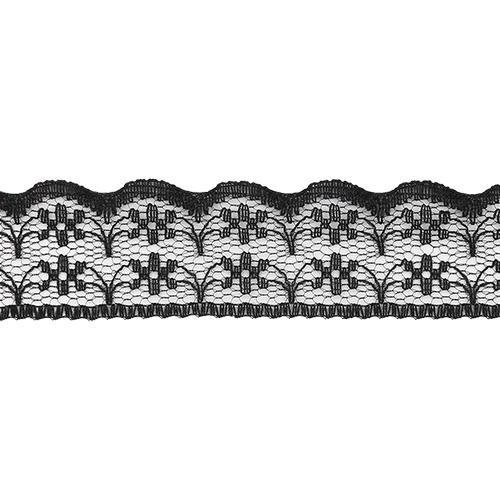 05-38012/22 Кружево нейлон 22мм*25м чер