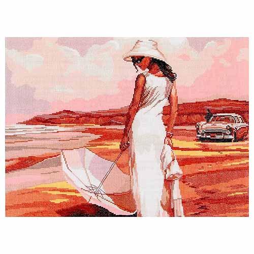 А-0003 Набор для вышивания Nitex 'Пляж', 45*33 см