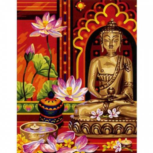 9880-0142-0437 Канва с рисунком Royal Paris 'Будда' 47,5х37 см