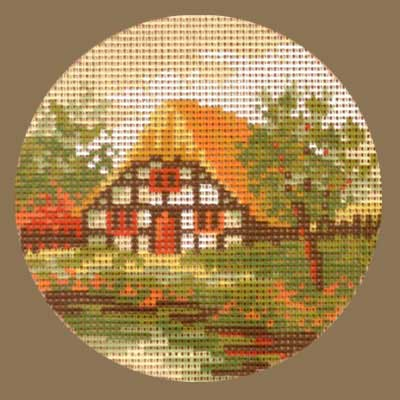 R1515-017 MONIKA DESIGN Канва с нанесенным рисунком 15х15 см