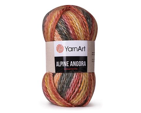 Пряжа YarnArt 'Alpine Angora Melange' 150г. 150м (20% шерсть, 80% акрил)
