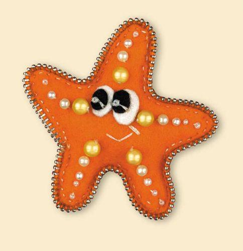 1410АС Набор для рукоделия Riolis брошь 'Морская звездочка', 7*7 см