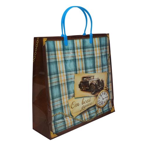 806871 Пакет подарочный пластик 'От всей души', 30 х 30 см