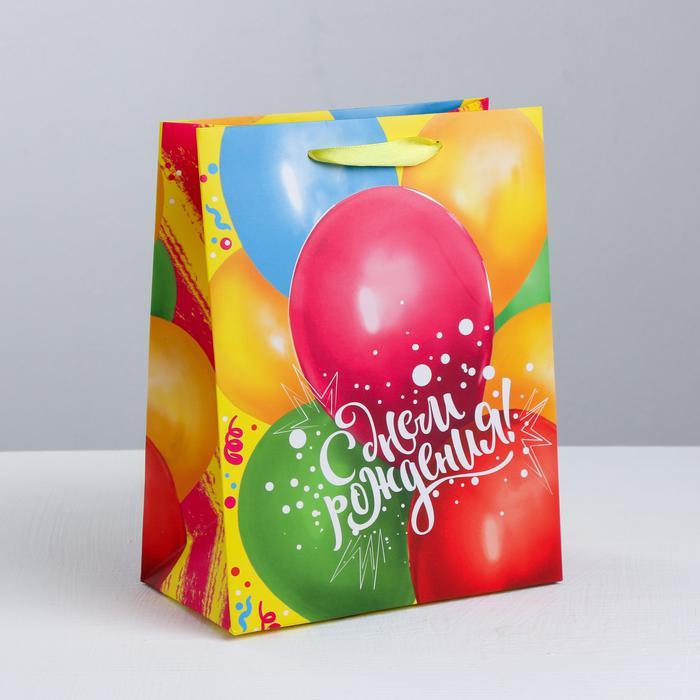3680607 Пакет ламинированный вертикальный «В твой День Рождения», S 12 × 15