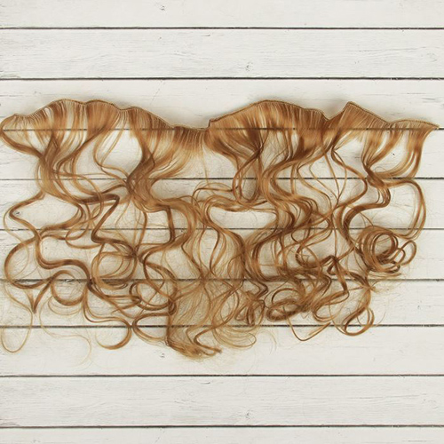 2294354 Волосы - тресс для кукол 'Кудри' длина волос 40 см, ширина 50 см, №27А