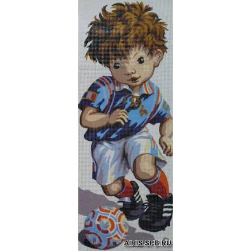 9880.0137.0007 Канва с рисунком Royal Paris 'Футболист' 25*60 см