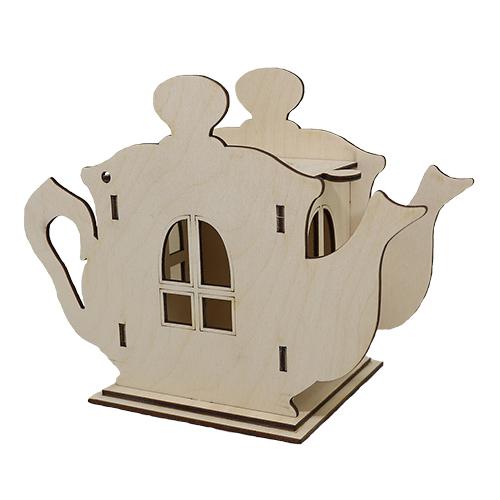 L-882 Деревянная заготовка чайный домик 'Чайник' 19*15 см 'Астра'