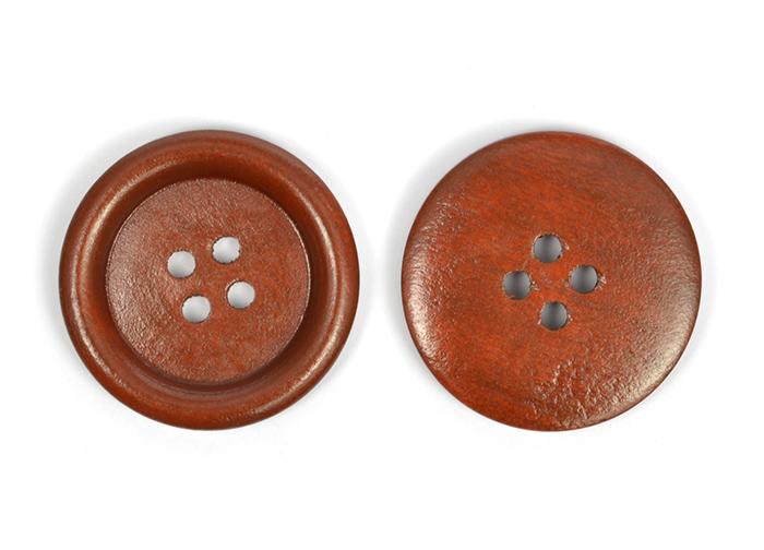 Пуговицы деревянные TBY BT.WD.438 цв.коричневый 48L-32мм, 4 прокола, 20 шт, BTWD43848