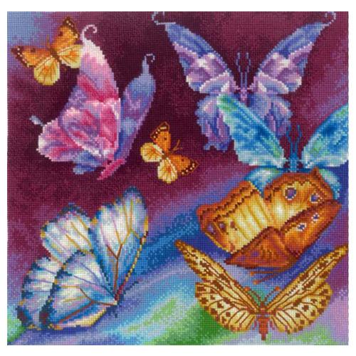 Р-11 Набор для вышивания 'Радужные бабочки', 28*28 см