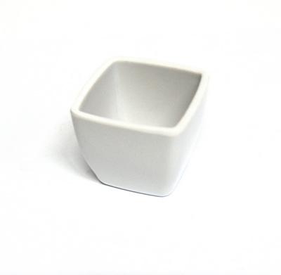 23899 Горшочек KR03 декор. 5,2см*5,0см, пластик, цв.белый