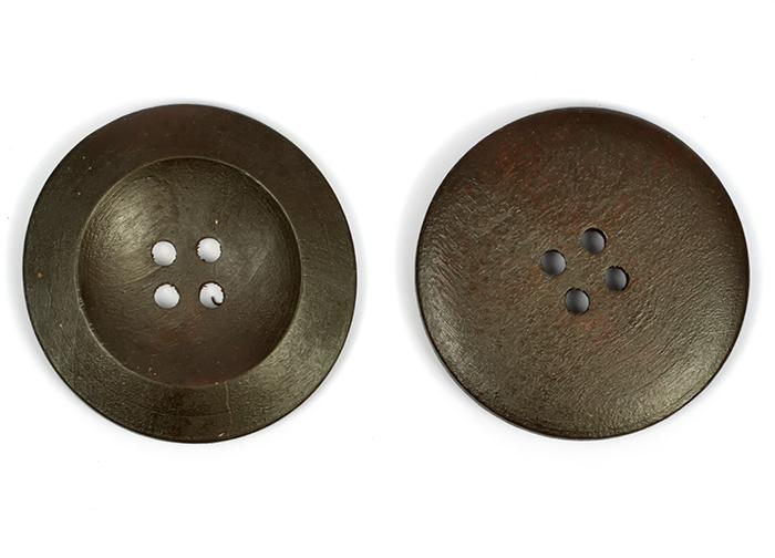 Пуговицы деревянные TBY BT.WD.616 цв.т.коричневый 54L-34мм, 4 прокола, 20 шт, BTWD61654