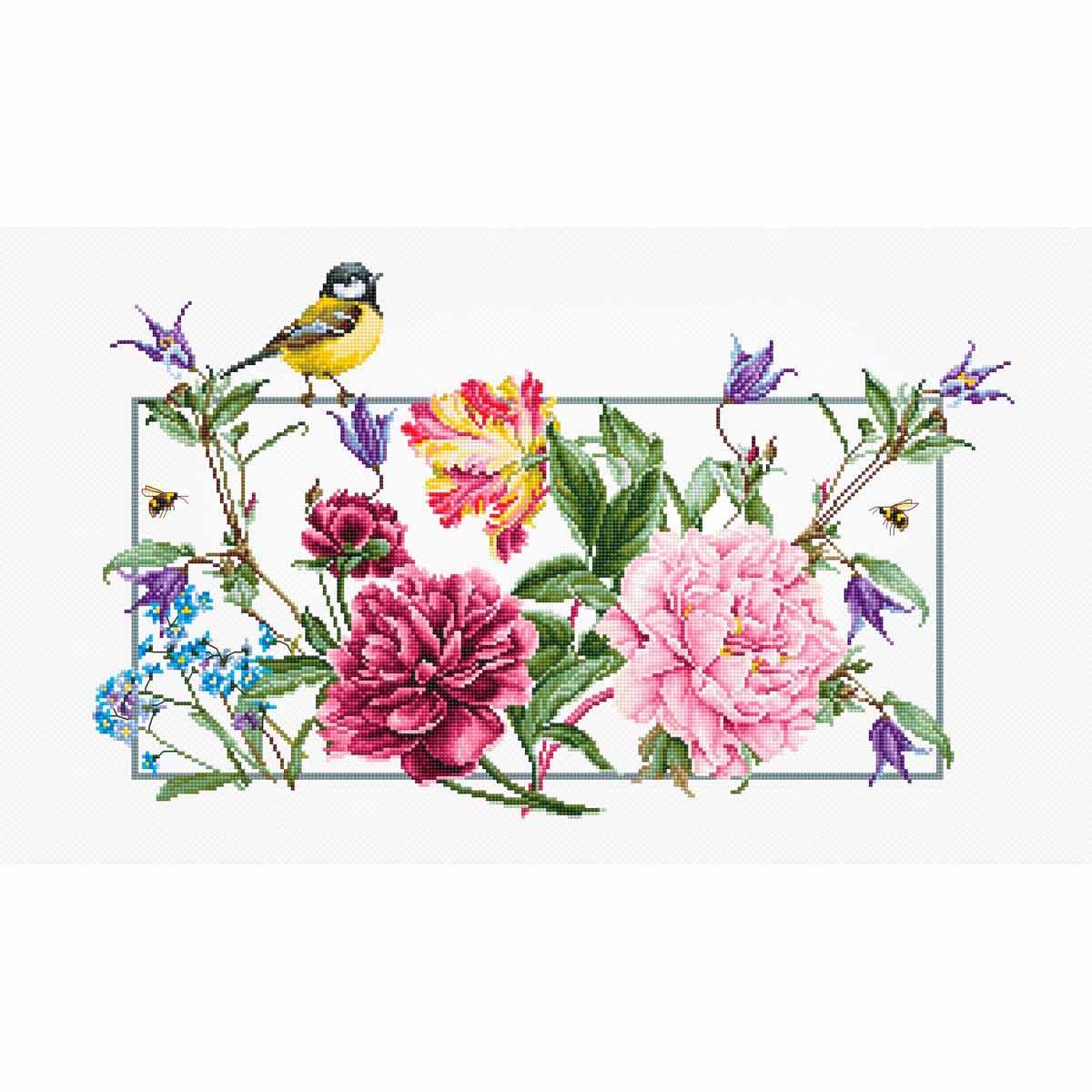 BA2359 Набор для вышивания 'Весенние цветы' 41,5*25см, Luca-S