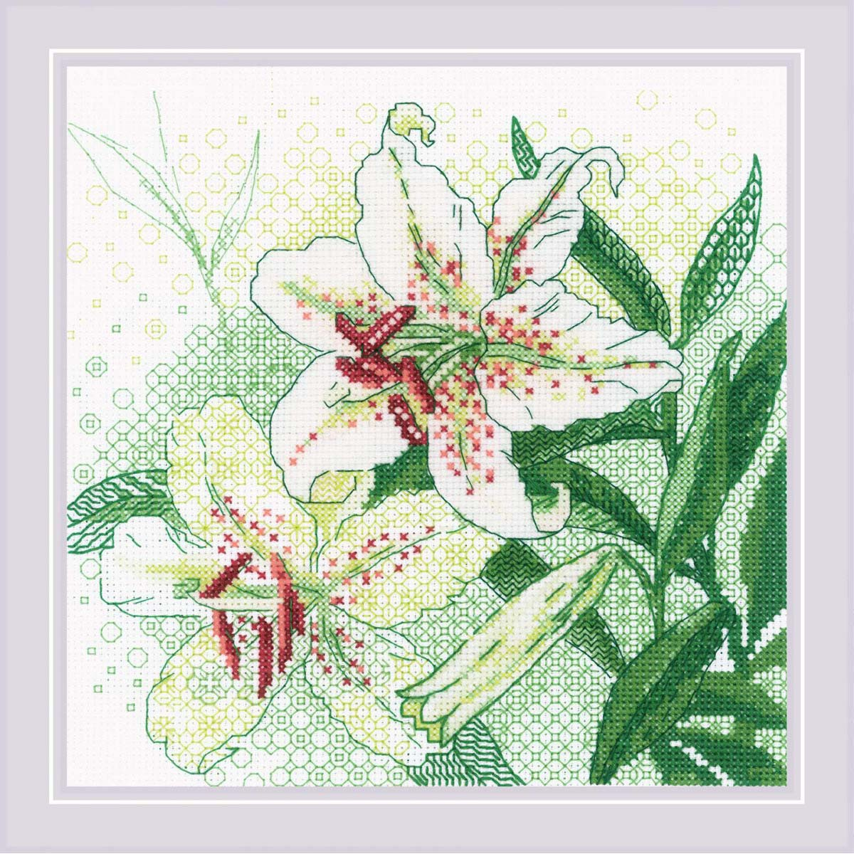 1915 Набор для вышивания Риолис 'Белые лилии' 20*20см