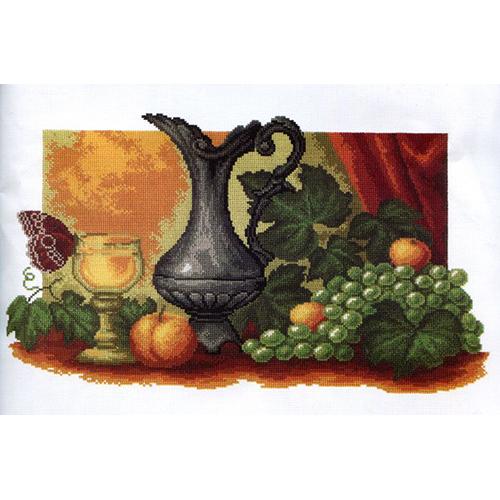 726 Набор для вышивания РС-Студия 'Натюрморт с виноградом' 40*23 см
