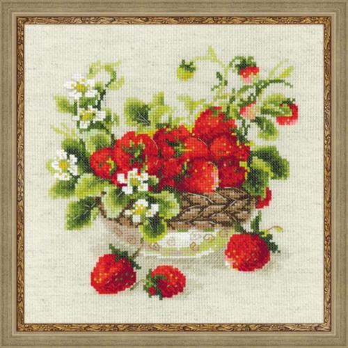 1449 Набор для вышивания Riolis 'Садовая клубника', 30*30 см