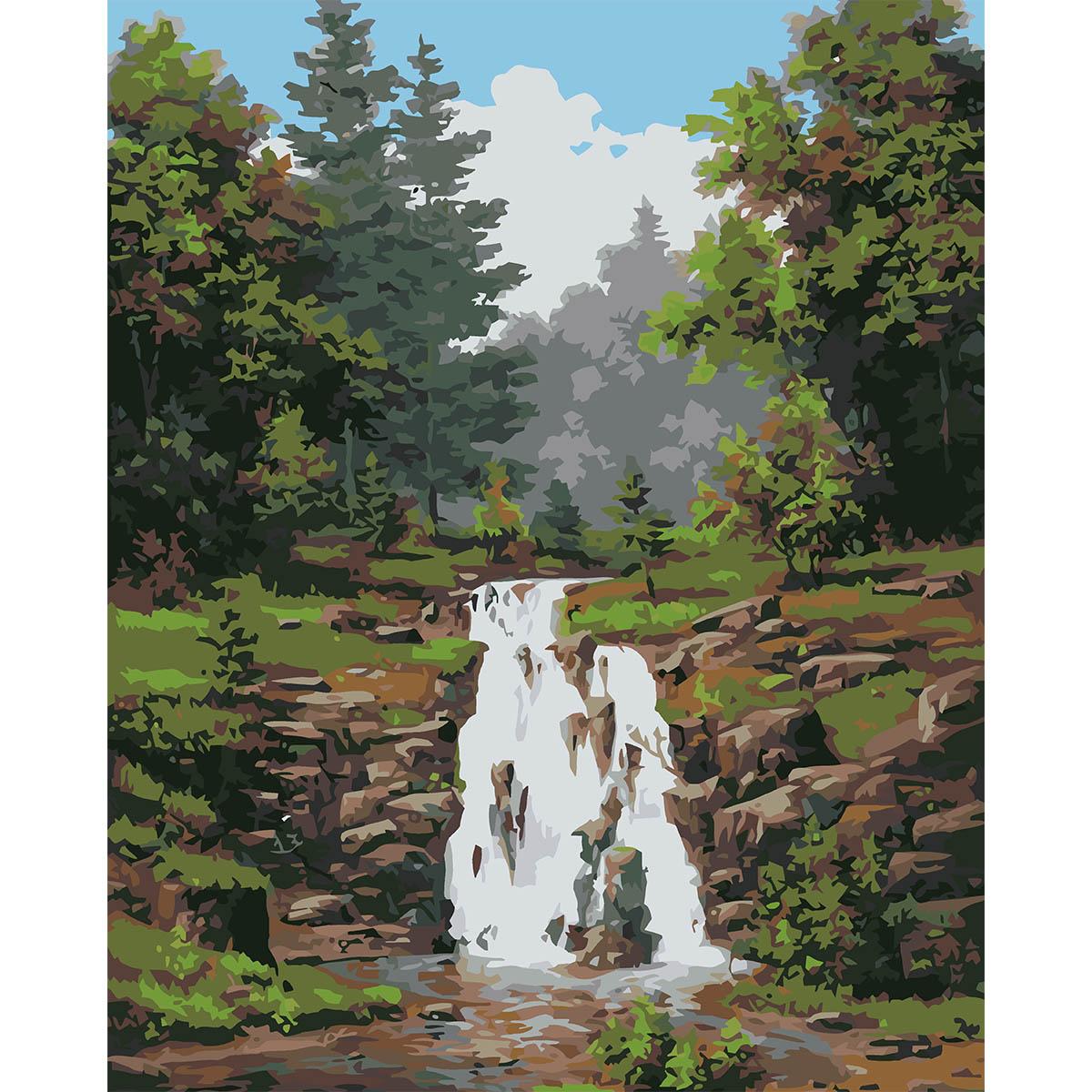 HB005 Набор для рисования по номерам ' Водопад ' 40*50см