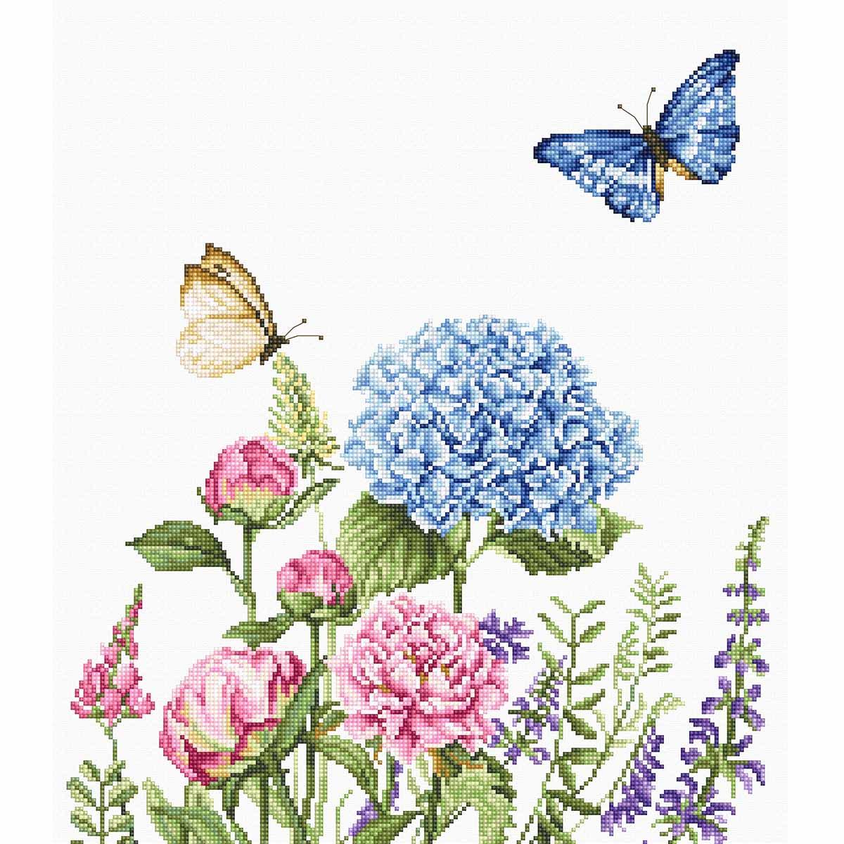 BA2360 Набор для вышивания 'Летние цветы и бабочки' 26,5*31,5см, Luca-S