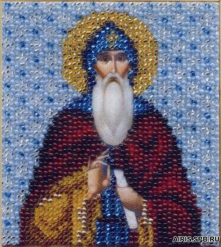 Б-1158 Набор для вышивания бисером Чарівна Мить 'Икона святой преподобный Илья Муромец-Печерский' 9*11см