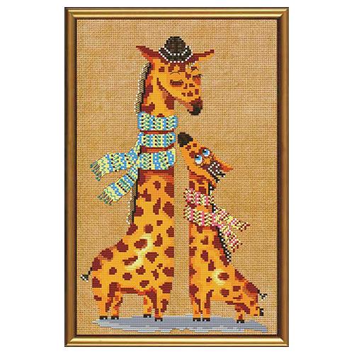 ННД4024 Набор для вышивания 'Нова Слобода' 'Жирафики', 19x30 см