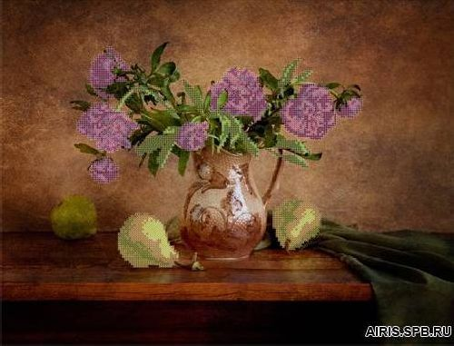 70020 Канва с рисунком Gluriya 'Пионы с грушами' 42*32 см