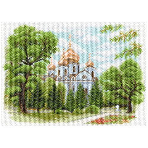 1638 Канва с рисунком Матренин посад 'Собор Александра Невского в Краснодаре' 28*40см (37*49см)