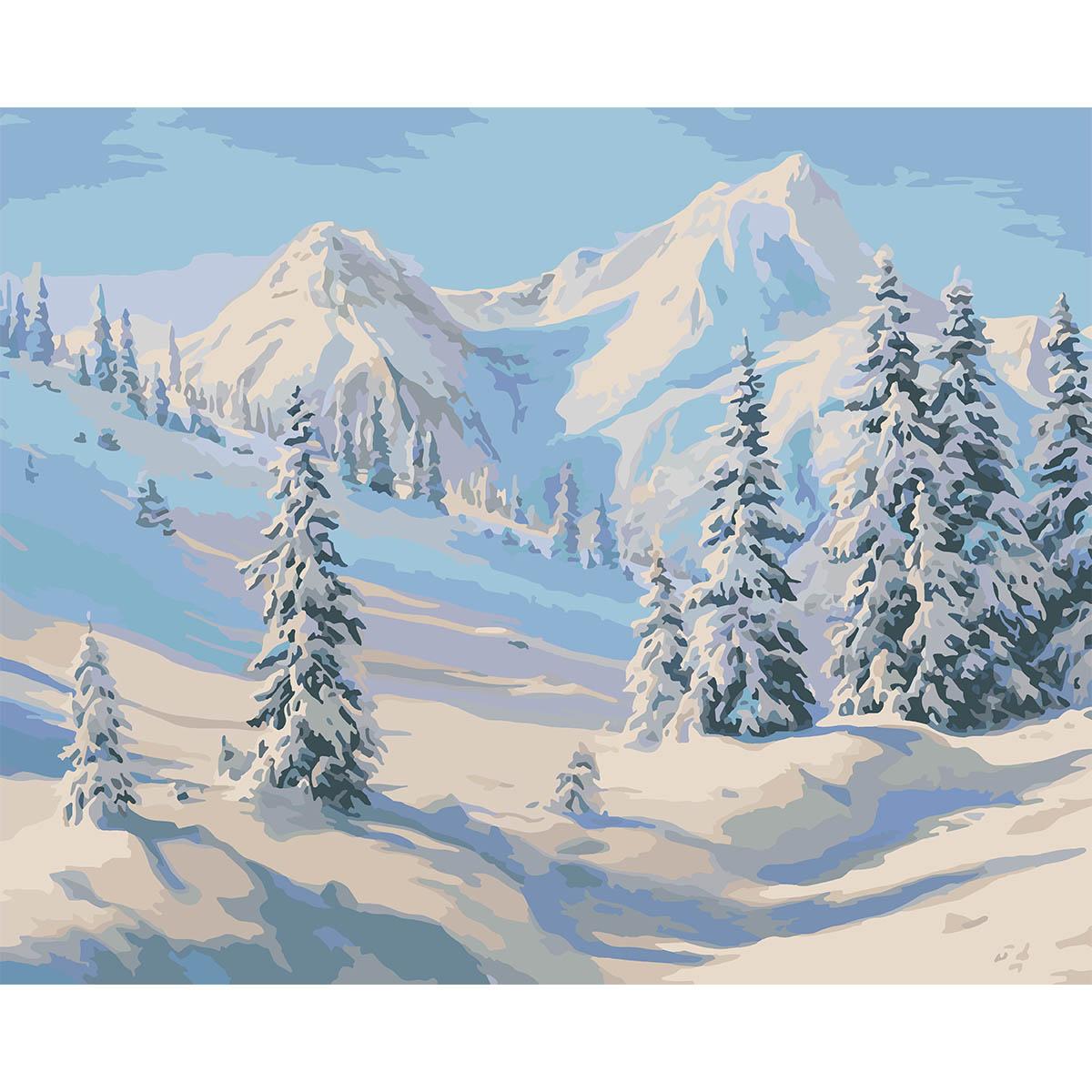 HB012 Набор для рисования по номерам ' В горах ' 40*50см