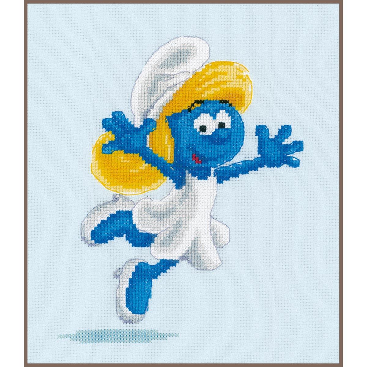PN-0185741 Набор для вышивания Vervaco 'Смурфики. Смурфетта' 17x18см