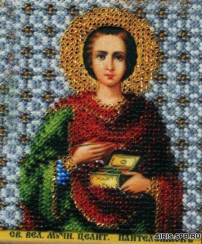 Б-1169 Набор для вышивания бисером 'Чарівна Мить' 'Икона св. вел. и целитель Пантелеймон', 9*11 см