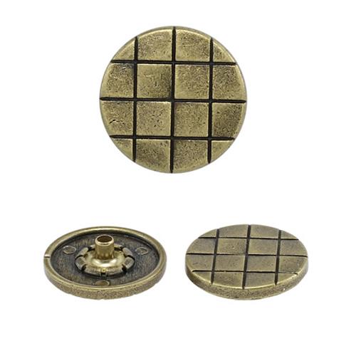 63416 Кнопка 5/19 лат цв.мет 'клетка' (А) 19мм